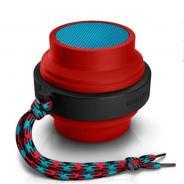 飞利浦(PHILIPS)BT2000R 蓝牙无线 伸缩便携智能苹果音箱音响 小巧方便  (赤幻红)